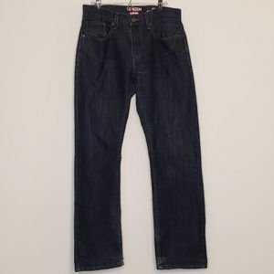 Levi's Denizen dark blue straight fit jeans, 32x30